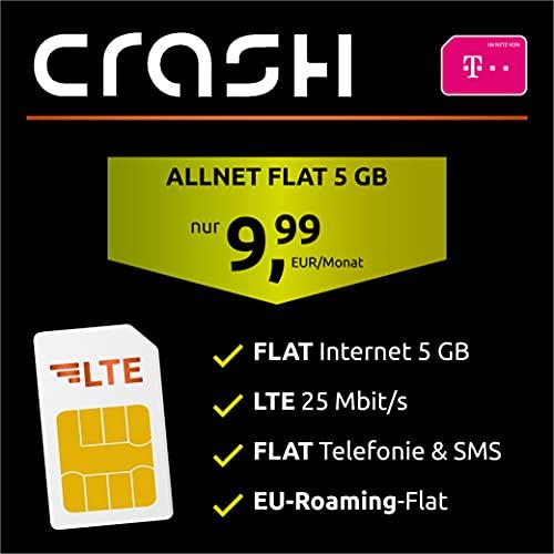 Telekom Handyvertrag 5 GB - Internet Flat, Allnet Flat Telefonie & SMS in alle Deutschen Netze, EU-Roaming, 24 Monate Laufzeit
