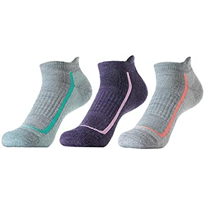 SOLAX 72% Women's Merino Wool Hiking Socks, Outdoor Trail Ankle Socks 3 Pack