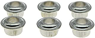 Dopro Metal Chrome 10mm Guitar Tuners Conversion Bushings Adapter Ferrules for Vintage Guitar Tuning Keys