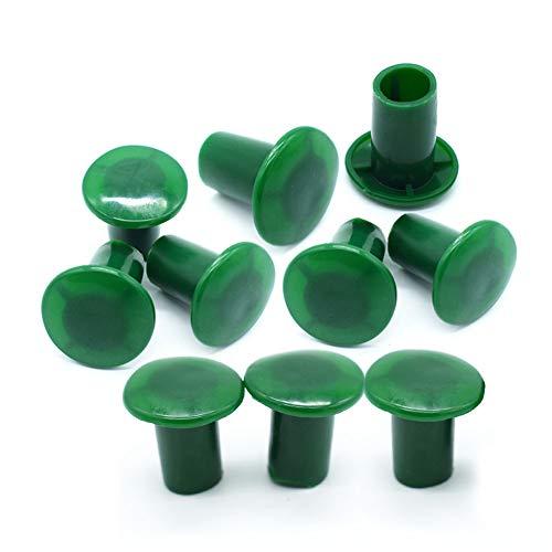 æ— 30 tapones de bastón de jardín, protectores de bambú de plástico verde, para bastones de jardín y bambú