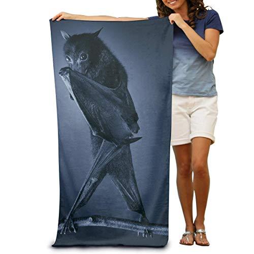 Toallas de Playa de Antiarena de Microfibra para Hombre Mujer, 130x80cm, Toallas Baño Calidad Gigante Secado Rapido para Piscina, Manta Playa, Toalla Yoga Deporte Gimnasio,Impresión de murciélago