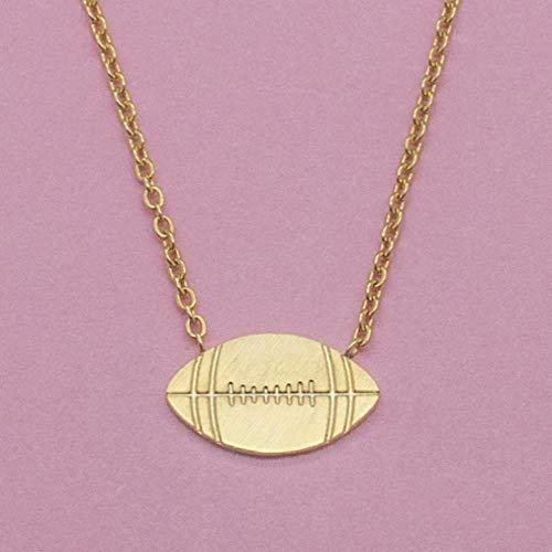 TTDAltd Halskette American Football Halskette Anhänger Kette Edelstahl Kragen Halskette