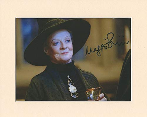 Maggie Smith Harry Potter Professor Minerva McGonagall signierter Autogramm im Passepartout