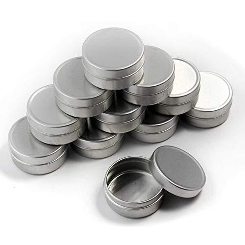 GAKIN Caja de latas de aluminio vacía para cosméticos, bálsamo labial, 10 ml, 10 unidades, color plateado