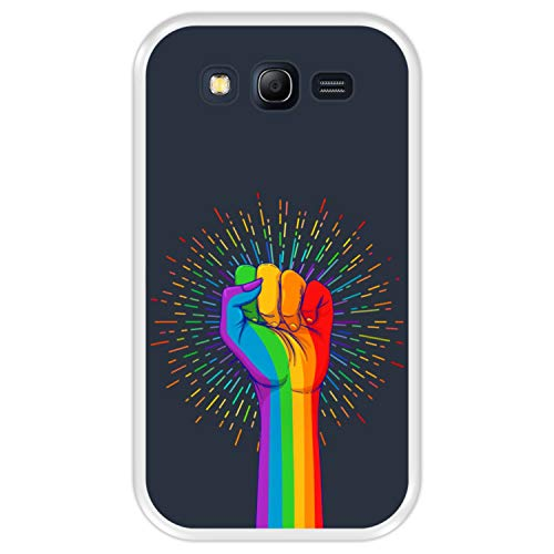 Hapdey Funda Transparente para [ Samsung Galaxy Grand Lite - Grand Neo - Neo Plus ] diseño [ Poder del Amor ] Carcasa Silicona Flexible TPU