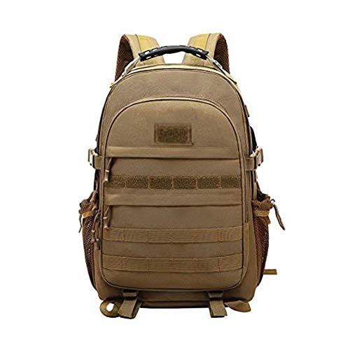 Kaday JOTHIN Taktischer Rucksack Herren Sport Backpack Outdoor Tagesrucksack Wasserdicht Armyrucksack Oxford-Tuch Rucksäcke mit USB für Survival Militär (40L)(Schwarz) (Brown)