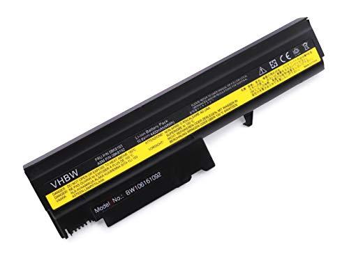 vhbw Akku passend für IBM ThinkPad R50, R50p, R51, R52, T40, T40p, T41, T41p, T42 Laptop Notebook - (Li-Ion, 4400mAh, 10.8V, 47.52 Wh, schwarz)