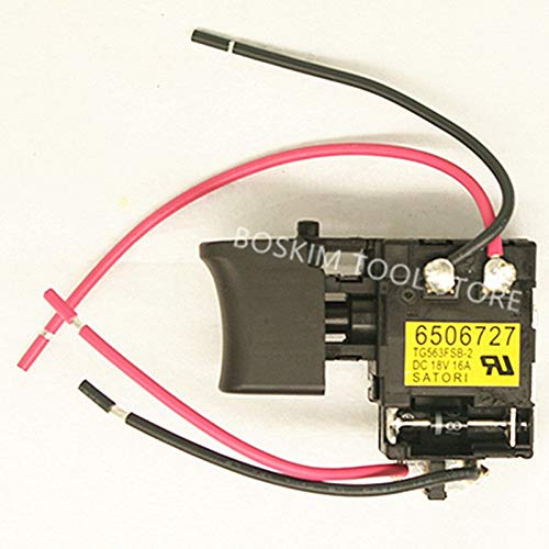 Maslin Switch for MAKITA 6261D 6271D 6281D 8271D 8281D 650663-8 6506638 650672-7 6506727 650601-0 6506010 6161DWE 6271DWE 6281DWE - (Color: 6271DWE 6281DWE)