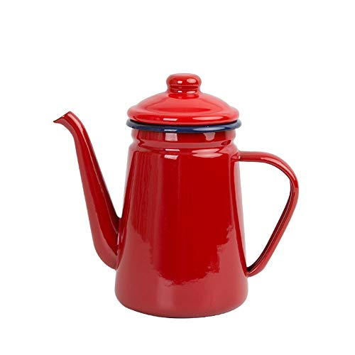 SLHP Kaffeekanne 1.1 L Kanne, 22 x 10 x 19,5 cm Emaille Nostalgie Teekanne