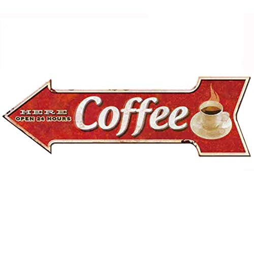 Ochoice Coffee Signs Arrow Metal Signs for Wall Decoration