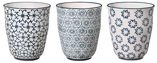 Bloomingville Becher Kristina, saphirblau, Keramik, 3er Set