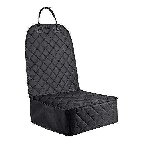 BCAuto Autositzbezug | wasserabweisend | antirutsch | Autositzschoner | schwarz | Sitzbezug Auto Vordersitz |Autositzauflage