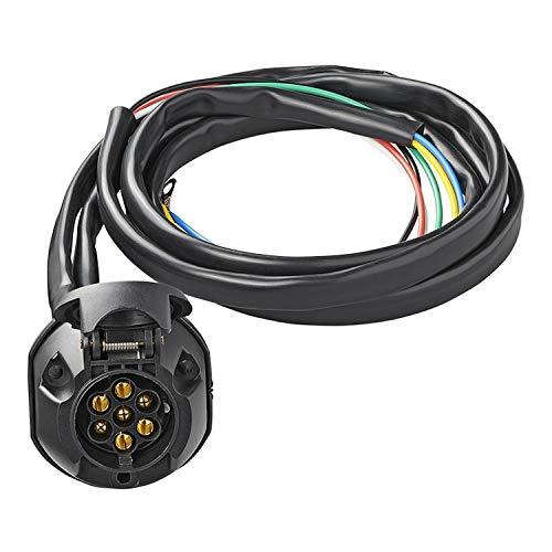 Steckdosen-Set 7-polig PVC + 1,5m Kabel