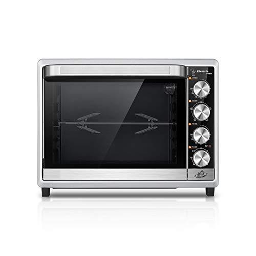 TXXM Produzione Forno Forno Elettrico Uso Domestico Piccolo Automatico Cottura Multifunzionale di Grande capienza Desktop Torta Forno Pratico (Color : Silver)