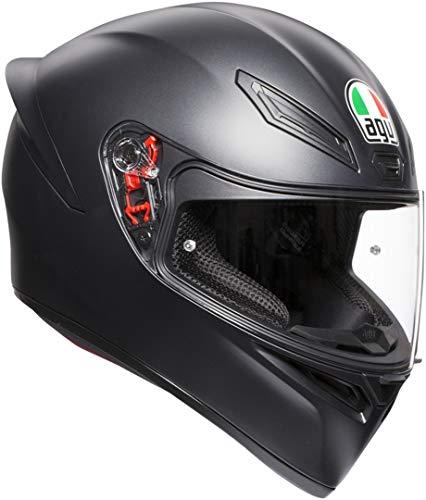 AGV K1 Agv E2205 Solid Casco Moto, Unisex - Adulto,  Nero Opaco, ML