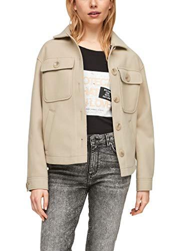 Q/S designed by - s.Oliver Damen Outdoor-Jacke mit Brusttasche beige L