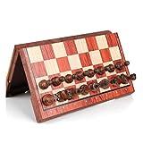 Yccx Juego de ajedrez de Regalo Divertido Juego de ajedrez de Metal Napoleón Hecho a Mano en Caja de Madera