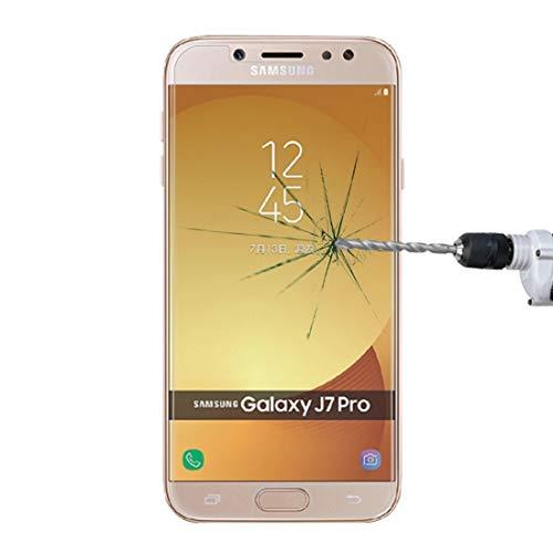 A + Xu Jie 1 unids para Galaxy J7 (2017) (versión UE) 0.26mm 9H dureza superficial 2.5D a prueba de explosiones pantalla no completa película de pantalla de vidrio templado