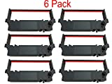 SP-700 Black and Red Ribbon Ink Cartridge Compatible with Star SP-700BR, RC-700BR, SP-712, SP-742 POS Printer Ribbon (6 Pack)