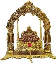 Lord KrishnaIndian Jhula Singhasan Traditional Handicraft Antique Look Temple Arch/gate Design , Laddu Gopal Sofa with Jhu...