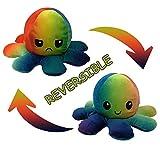 Tik Tok Oktopus Plüsch Wenden Kuscheltier Groß Kinderspielzeug Geschenk Plüschtiere niedlich kleine Octopus Toy Doppelseitiges Flip-Plüschtier Süße Wendepuppe Stofftierpuppe für