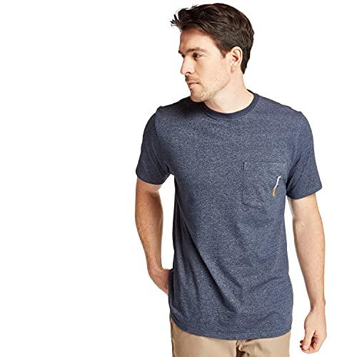 Timberland PRO Herren Base Plate Short Sleeve with Chest Pocket Big & Tall T-Shirt, Marineblau meliert, XXX-Large Hoch
