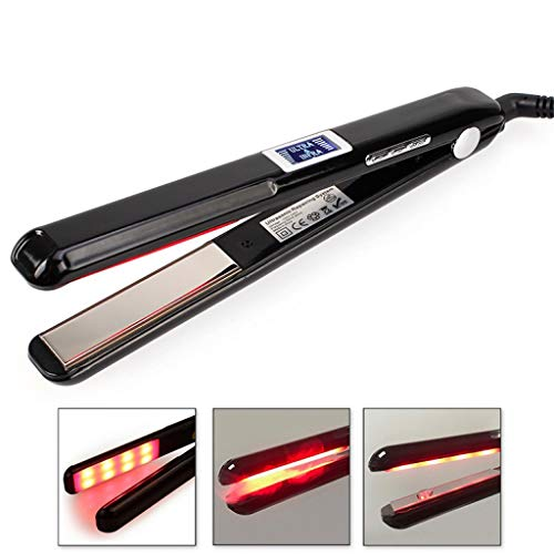 GPNBVV Hair Straighteners,Infrared Ionic Pro Nano-Titanium Tourmaline Flat Iron by, Best for 2 in 1 Curling and Straightening, Adjustable Temp