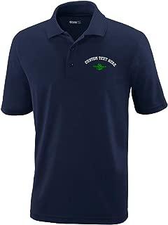 Custom Polo Performance Shirt Green Master Navigator Embroidery Design Polyester