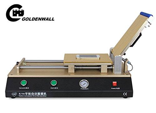 CGOLDENWALL, máquina de laminación automática OCA de 12 pulgadas, máquina de laminación de película polarizadora OCA para iPad, tableta, LCD, necesidad de reparación de compresor de aire
