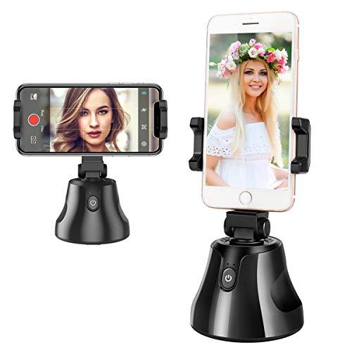 Powcan Portable Selfie Stick Inteligente Todo en uno, Gira 360 ° Rastreo automático de rostros y Objetos Vlog Shooting Smartphone Mount Holder