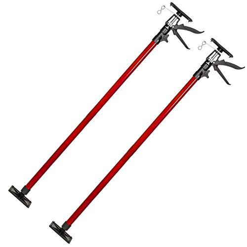 TecTake PUNTAL EXPANSION TELESCÓPICO REFORZADO SOPORTE PARA TECHO 115-290 cm - varios modelos - (2x Rojo | no. 402399)