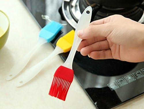 Liroyal Pinceau de cuisson à badigeonner en silicone, 4 pièces 8pcs