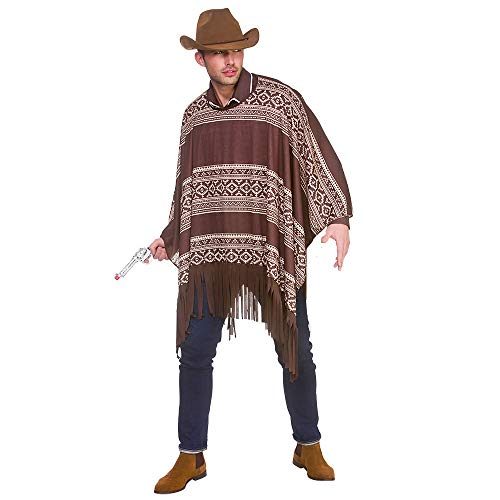 Western Cowboy Poncho - Adult Costume Adult - One Size