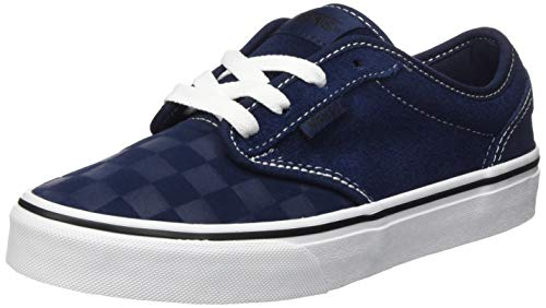 Vans Atwood Suede Sneaker, Deboss Checkerboard Dress Blues White, 33 EU