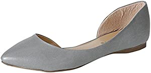 Breckelle's Deon-02 Women's Pointed Toe Slip on PU Or Animal Print D'Orsay Flat Shoes