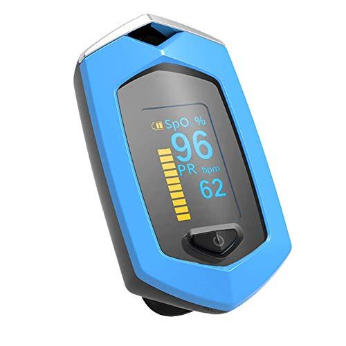Pulsioxímetro de Dedo, Monitor de saturación de oxígeno en Sangre (Spo2 y Pr), para medición de frecuencia cardíaca Oxímetro de Pulso de Dedo Recargable, Oxímetro de Pulso con Pantalla OLED portátil