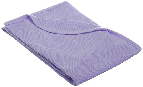 TL Care 100% Natural Cotton Swaddle/Thermal Blanket, Lavender, Soft Breathable, for Girls