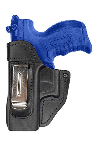 VlaMiTex IWB Leather Holster for Walther P22 / CCP / PK380 / Ruger SR22 Black