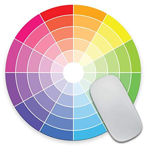 Amcove Color Wheel Circle Mouse Pad - Mousepad - Coworker Teacher Gift - Artist - Colors - Paint - Art - Watercolor