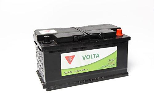 Bateria de coche 92 Ah start stop AGM +Dcha