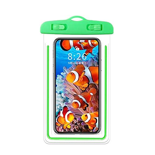 2 Fundas Impermeables,Funda Sumergible Móvil para Celulares como iPhone 12 Mini/Pro/Pro MAX/SE 2020/X,Galaxy S20/S20+/S20 Ultra 5G/S9/S8 Plus/Note,Huawei Xiaomi Móviles hasta 6.7'