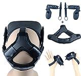 Eyglo Almohadilla para la Cabeza +Cubierta de Controlador de Silicona +Correa de Mano para Auriculares Oculus Quest Accesorios VR Juego de VR Cómodo a Prueba de Sudor