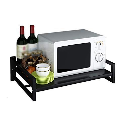 Yhjkvl Soporte de almacenamiento para horno de microondas y microondas, soporte de almacenamiento para cocina, ahorro de espacio, organizador de cocina (tamaño: 57 x 38 x 12 x 17,3 cm; color: # 2)