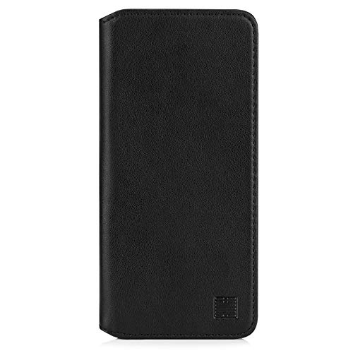 32nd Classic Series 2.0 - Real Leather Book Wallet Flip Case Cover For Motorola Moto G9 Power, Real Leather Design With Card Slot, Magnetic Closure and Built In Stand - Black