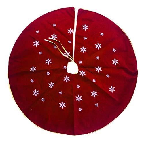 Amosfun Baumrock Weihnachtsbaumdecke 120cm Baumdecke Weihnachtsbaum Unterlage Christbaum Teppich Tannenbaum Decke für Weihnachtsschmuck