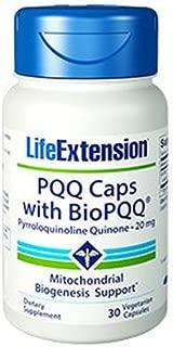 Life Extension PQQ Caps, Pyrroloquinoline Quinone, 20 milligrams 30 Vegetarian Capsules. Pack of 2 Bottles.