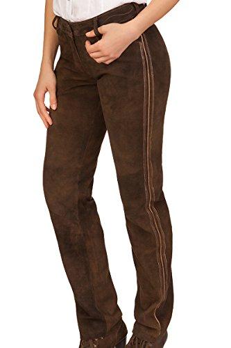Spieth & Wensky Trachten Damen Lederhose lang - Demo - Aventin, Größe 52