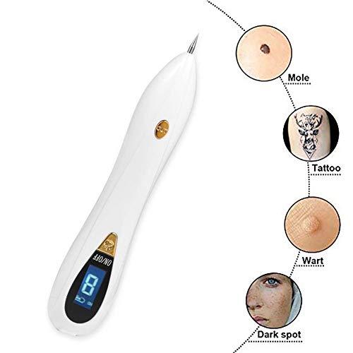 Mole remover met uv-lamp, 8 instelbare niveaus, oplaadbaar via USB, voor routers, tattoo-gereedschap Goud