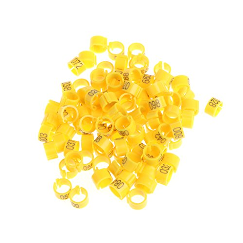 luosh 8mm Identify Ring Carrier,100 Pieces Numbered Bird Leg Bands Poultry Leg Rings for Canaries Birds Chicken Quail Dove Pigeon Foot Rings 001-100