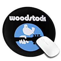 マウスパッド Woodstock ウッドストック ロゴ 個性的 おしゃれ 円形 デスクマット 防水 洗える 耐久性 滑り止めゴム底 レーザーマウスと光学マウスに互換性があります 女性 子供 可愛い 高級感 オフィス自宅兼用